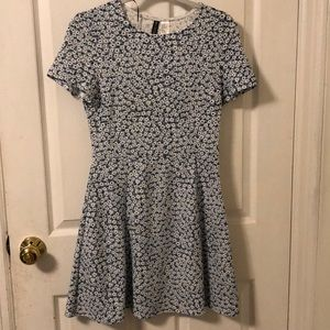 Lt blue floral knit dress from H&M